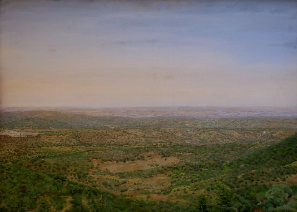 Pablo Carnero, Valle del Batán, óleo sobre lienzo sobre tabla, 102 x 142cm
