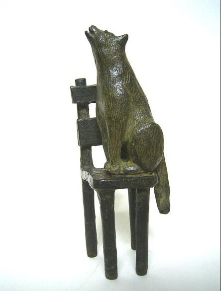 Lobo, bronce, 14 X 4 X 5 cm
