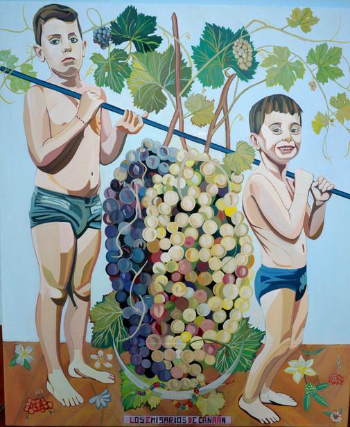Los emisarios de Canaán, 2016, óleo sobre lienzo, 110 x 130 cm