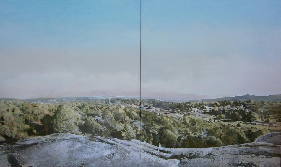 Jorge Abbad, Monte del Pardo, 2015, óleo sobre lienzo,  200 x 130 cm