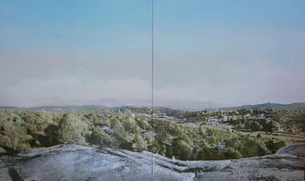 Jorge Abbad, Monte del Pardo, 2015, óleo sobre lienzo, 200x130 cm