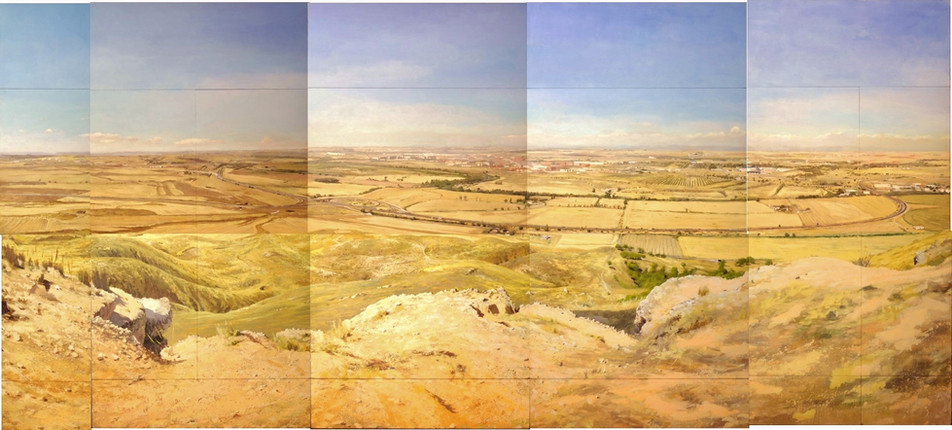 Alberto Martín Giraldo, Cerro del Viso, 2016, acrílico sobre lienzo, 375x840 cm