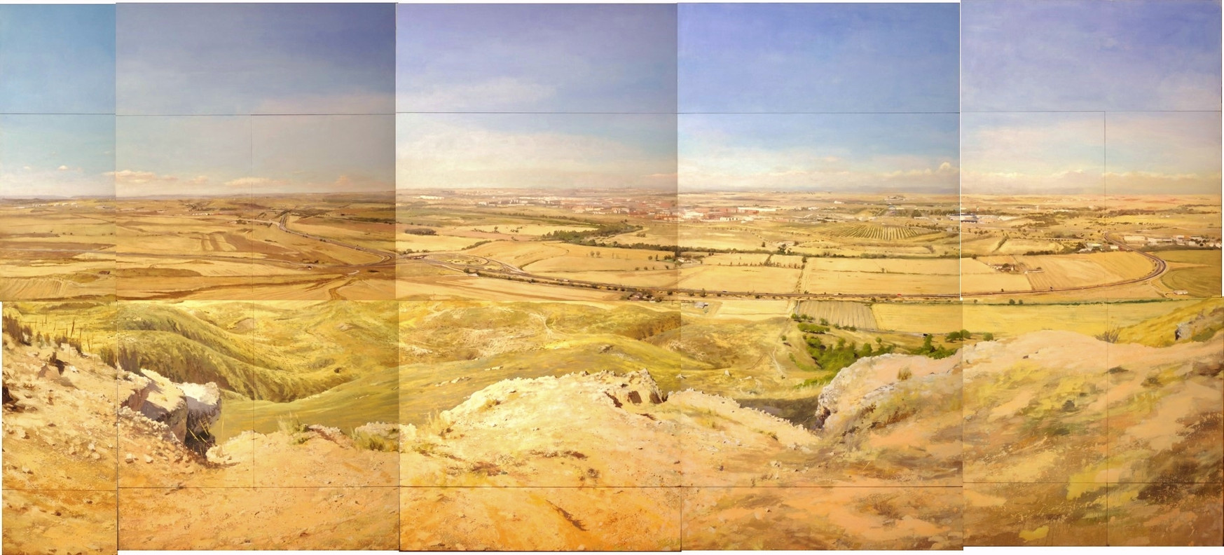 Cerro del Viso,  2016, acrílico sobre lienzo, 375 x 840 cm