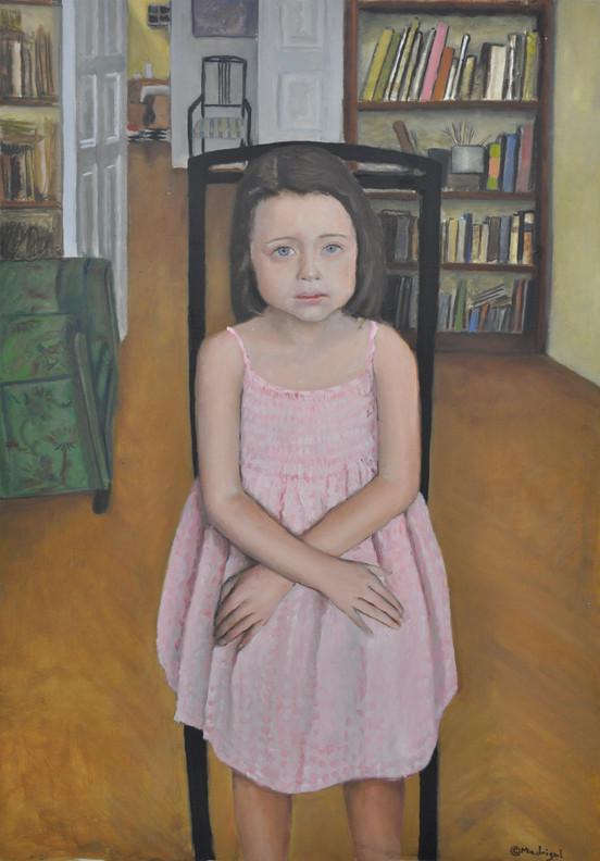 Celia, oil on wood, 100 x 70 cm