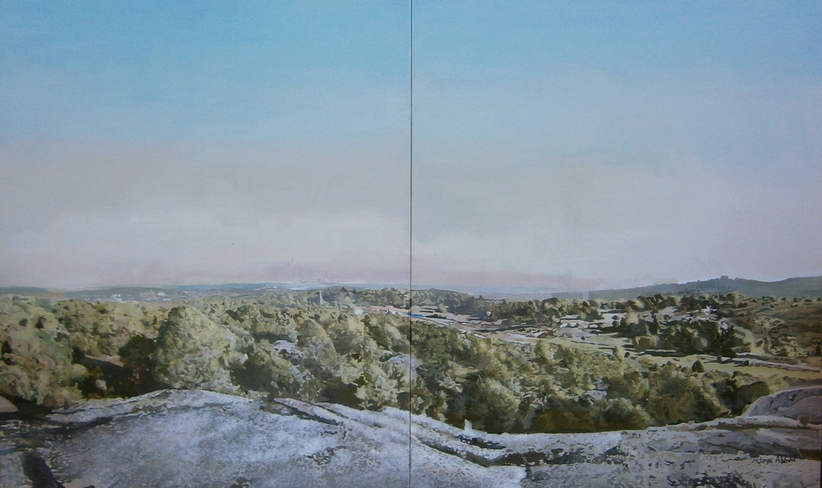 Monte del Pardo, 2015, oil on canvas, 130 x 200 cm