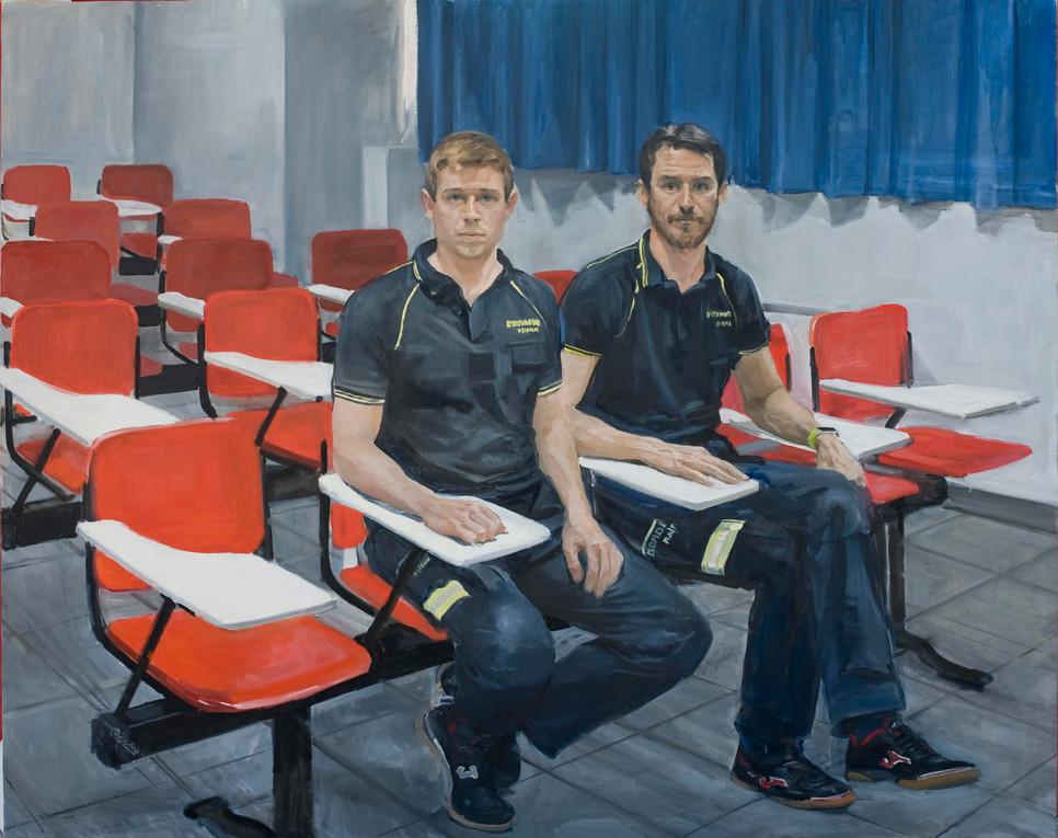 Arturo y Antonio en el aula del parque 11,