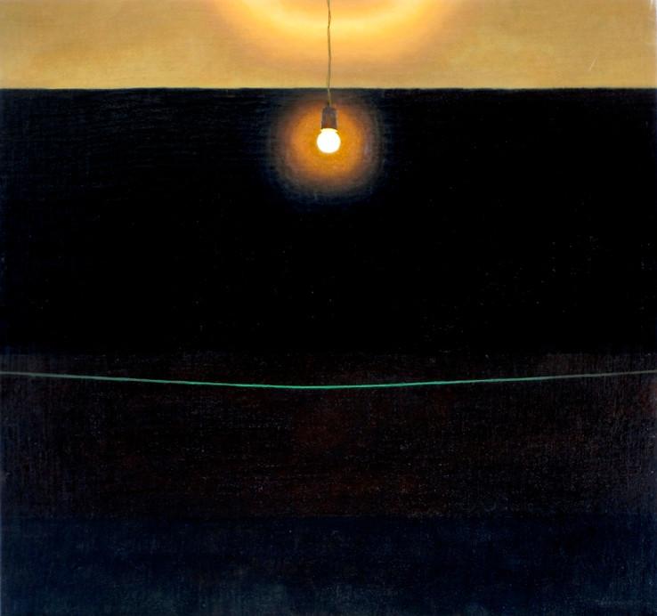 Bombilla, oil on canvas on wood, 47 x 50 cm