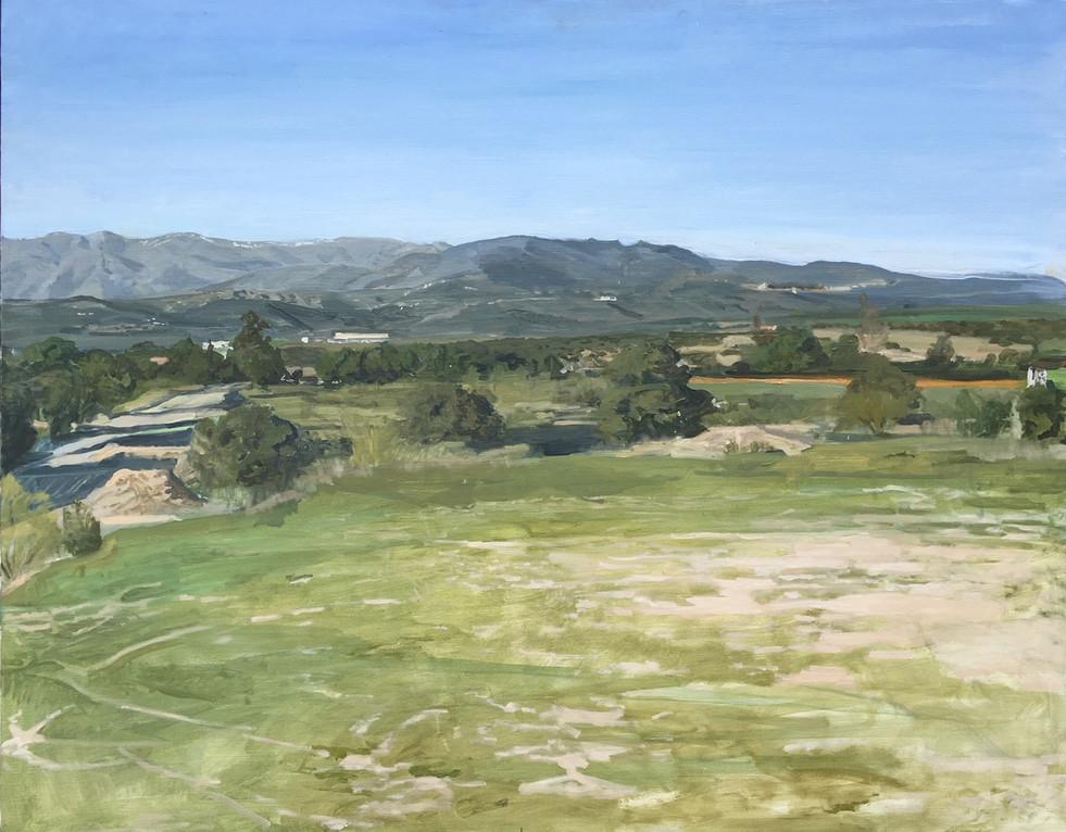 Ignacio Escobar. Villanueva de la Cañada. Primavera de 2019, óleo sobre lienzo. 73 x 92 cm