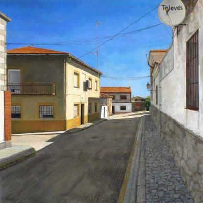 Pablo Carnero, Piedras labradas, óleo sobre lienzo sobre tabla, 61 x 61 cm