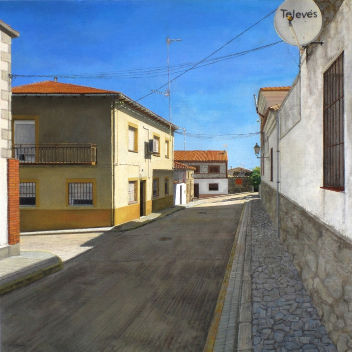 Piedras labradas, oil on canvas on wood, 61 x 61cm