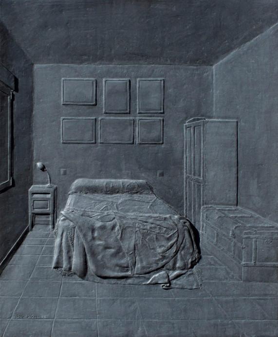 El dormitorio, polyester, 60 x 50 cm