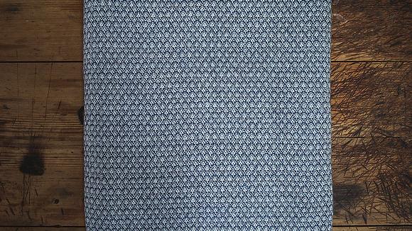 Blue Hash Fine Wool Throw