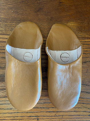Mustard Leather Slippers