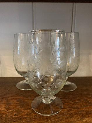 Vintage Flowers Glass