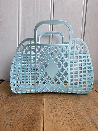 Retro Jelly Basket Blue