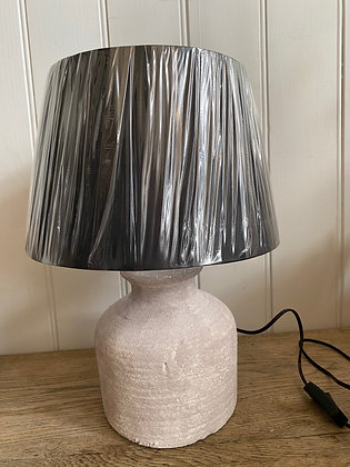 Concrete Lamp with Black Shade