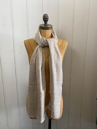 Soft Grey Wool Scarf