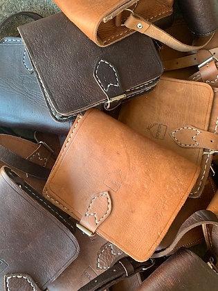 Small half moon Leather Bag