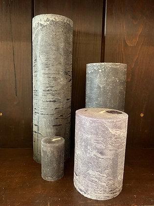 Grey Pillar Candles