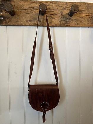 Large Dark Brown Leather Bag