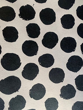 Black Spot Wrapping Paper