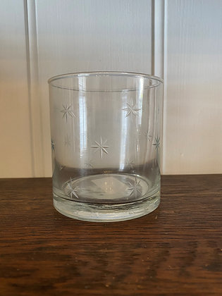 Tumbler Star Etched Glass