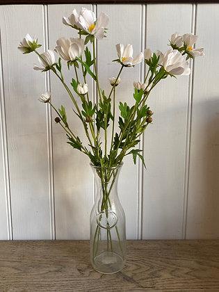 White Faux Japanese Anemone