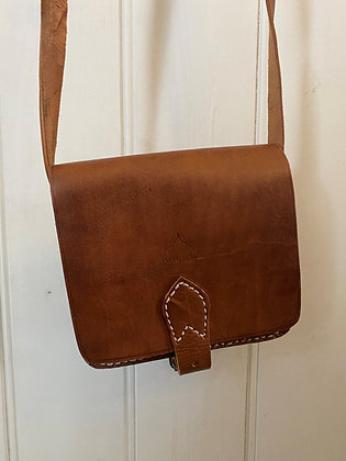 Small Square Leather Bag
