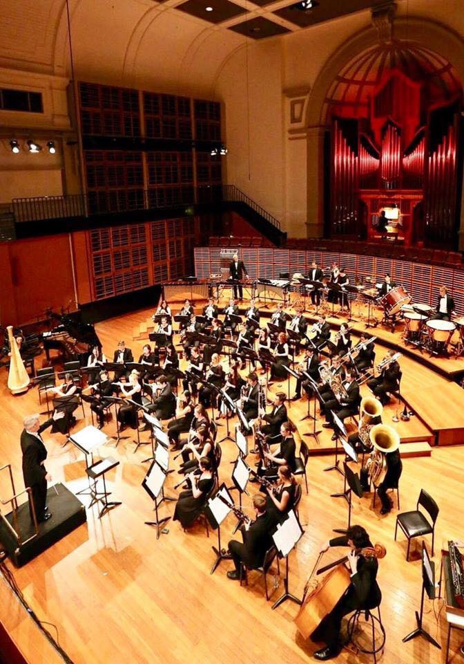 Sydney Conservatorium Wind Symphony with conductor Dr. John Lynch