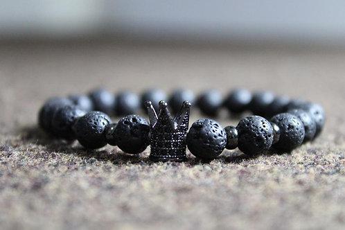 Men's Black Crown Bracelet