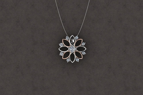 18ct White Gold Pendant with Chain