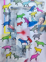 Friendly animals 76x56cm Indian Ink on paper 5 Aug 2018 Price US� 900.jpg