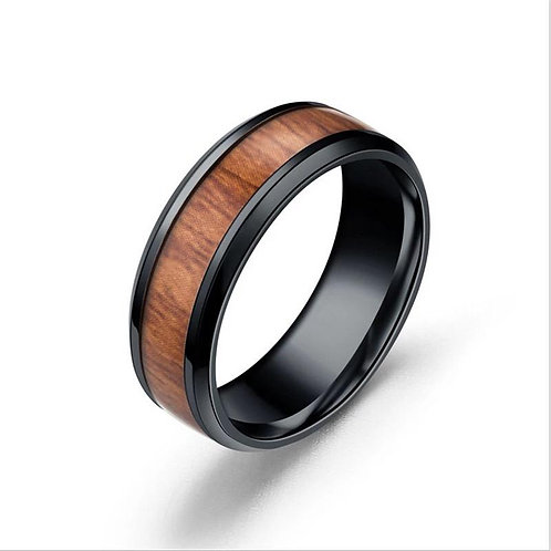 Stainless Steel Band Rings Durable Vintage Titanium Stainless Steel 8mm Ring