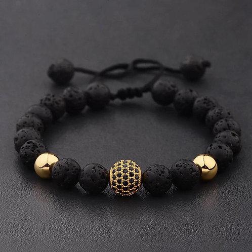 Men's Micro Pave Beads Bracelet 8MM
