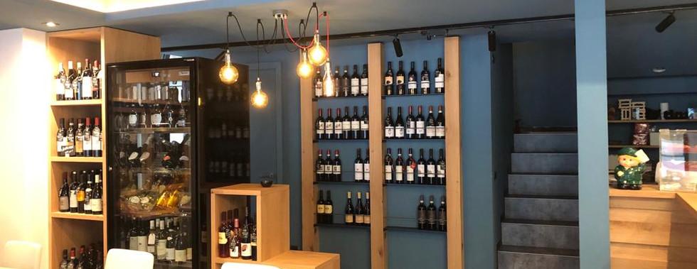 esposizione vino a parete