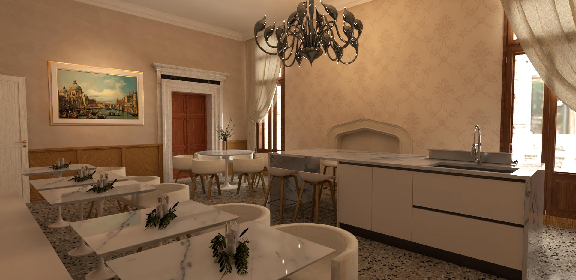 Cucina e sala colazioni
