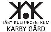 Karby logga vit med svart symbol och tex
