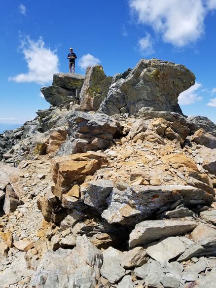 Dan summits Fisher Peak