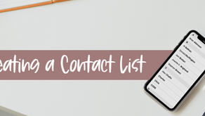 Creating a Contact List