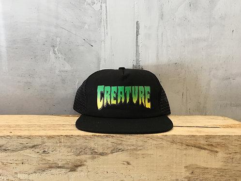 Creature / trucker logo mesh hat