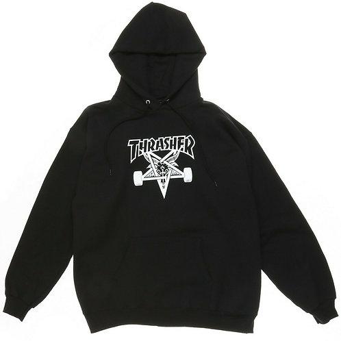 Thrasher / skate goat hood black