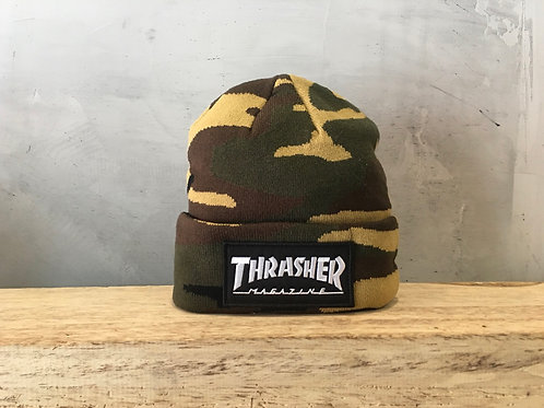 Thrasher / logo patch beanie
