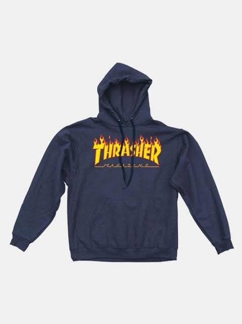 Thrasher / flame logo navy blue