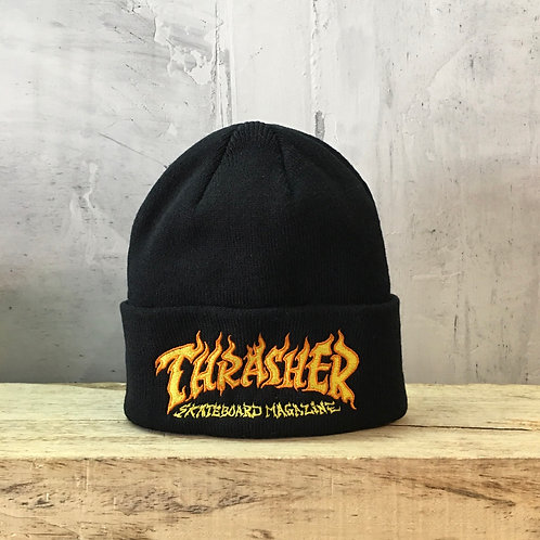 Thrasher / fire logo beanie