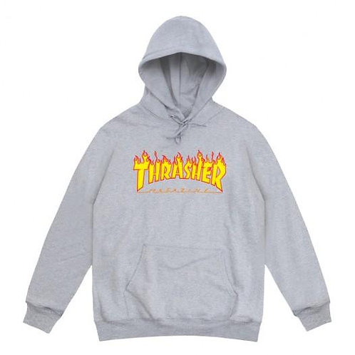 Thrasher / flame logo grey