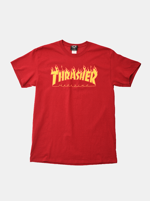 Thrasher / flame logo red