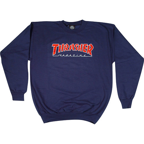 Thrasher / crewneck outlined navy