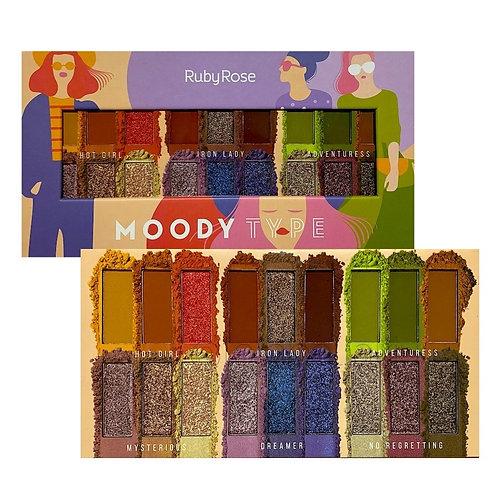 PALETA DE SOMBRAS MOODY - RUBY ROSE