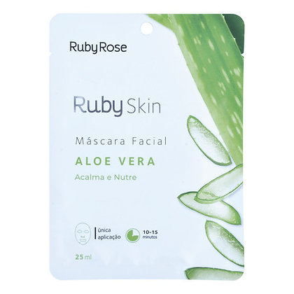 Máscara Facial De Tecido Aloe Vera Skin - Ruby Rose
