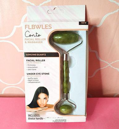 Roller Facial Quartzo Verde - Massageador Facial